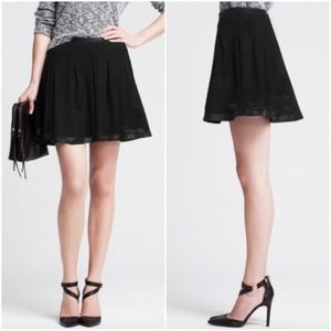 Banana Republic Knit Perforated Lace Net Skirt